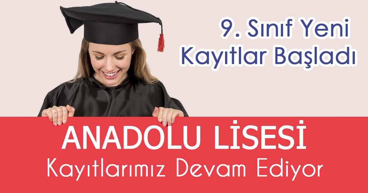 Anadolu Lisesi kayıtlarımız devam ediyor.